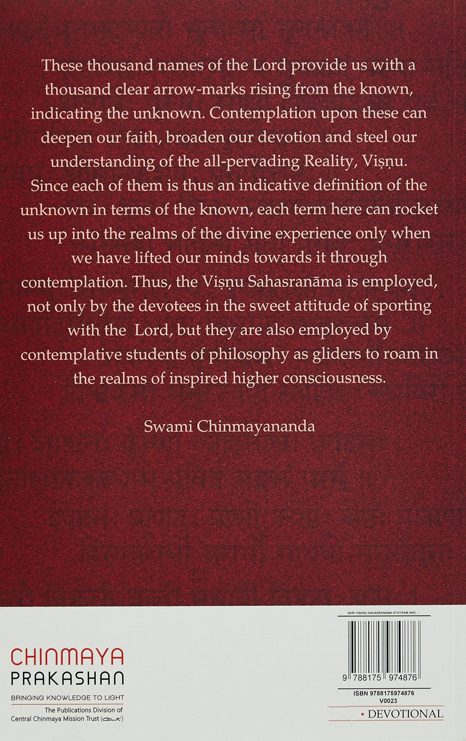 Buy Vishnu Sahasranam Stotram & Namavali Book Online at Low