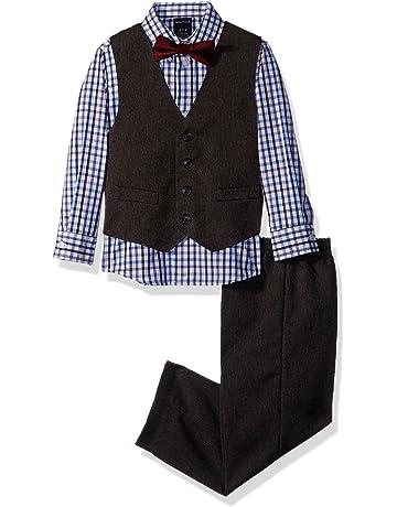 94a3c8e91125e Nautica Boys' 4-Piece Vest Set with Dress Shirt, Bow Tie, Vest