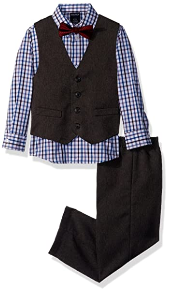 1930s Childrens Fashion: Girls, Boys, Toddler, Baby Costumes Nautica Boys Set with Vest Pant Shirt and Bow Tie $68.00 AT vintagedancer.com