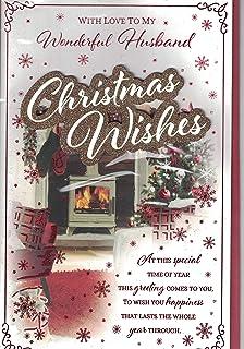 Husband Christmas Traditional Uk Greetings Card Merry Xmas Snow Traditional