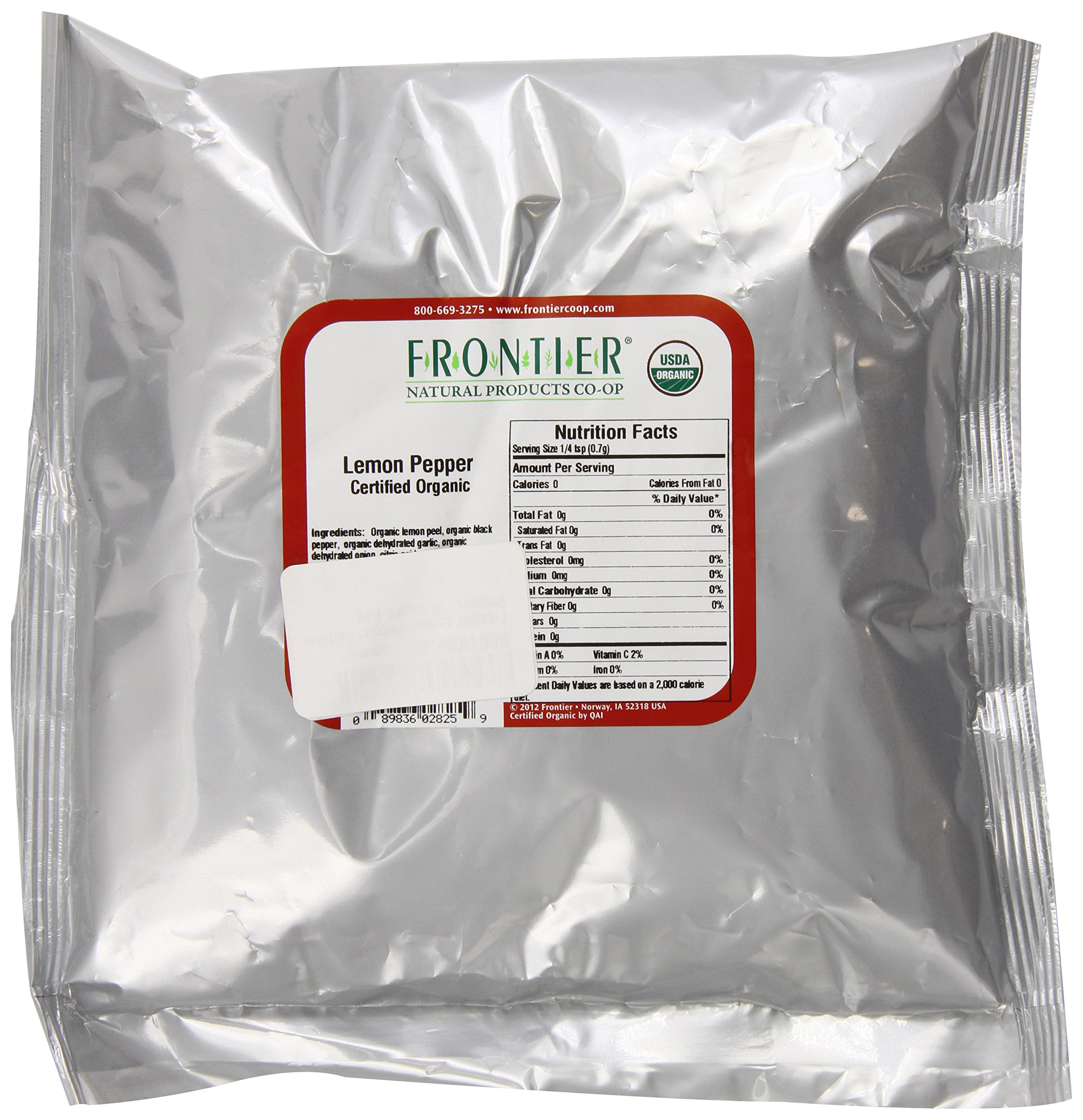 Frontier Lemon Pepper Certified Organic, 16 Ounce Bag by Frontier (Image #1)