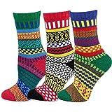 TeeHee Winter Crew Fun Socks for Women 3 Pairs Pack