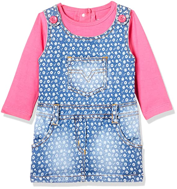 7000635680fc Little Kangaroos Baby Girls  Dress  Amazon.in  Clothing   Accessories