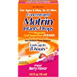 Infants' Motrin Concentrated Drops, Fever Reducer, Ibuprofen, Berry Flavored.5 Oz