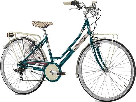 Bicicleta Cicli Cinzia para mujer, cuadro de acero, 6 velocidades ...