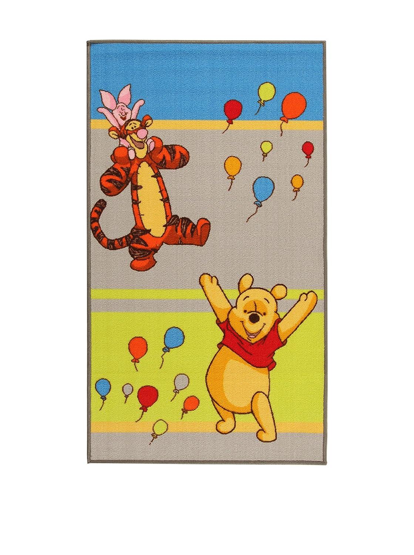 MonBeauTapis Tapis Disney Winnie l'ourson & Friends (140x80cm) Multi - Enfant - Style : Enfant BEBEGAVROCHE 18171_Verde/Grigio/Blu-80x140cm