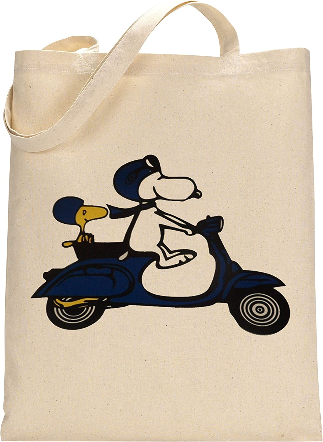 FunnyWear Vintage Scooter Fan Snoopy Peanuts Custom Made Tote Bag
