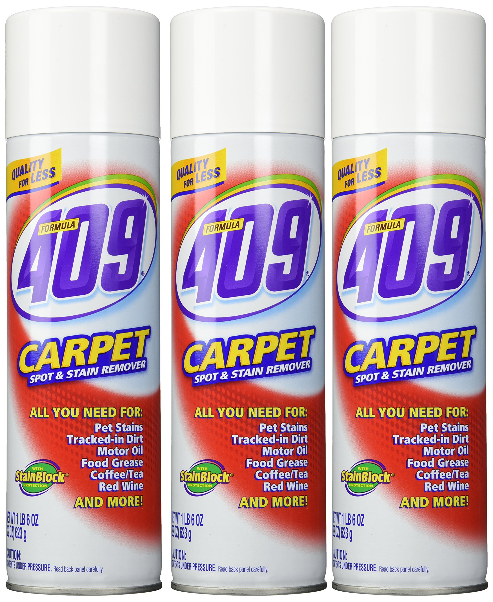 Formula 409 Carpet Spot & Stain Remover 22 oz Can (Pack of 3)