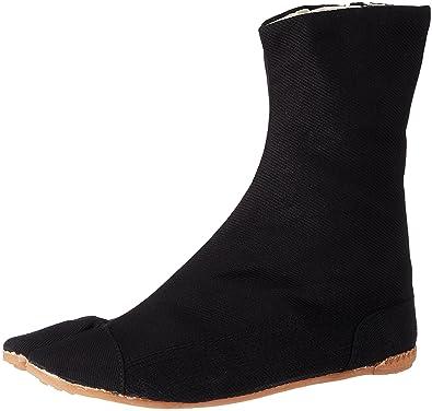 KOMPLETT SCHWARZ Ninja Tabi Stiefel Japanische Schuhe