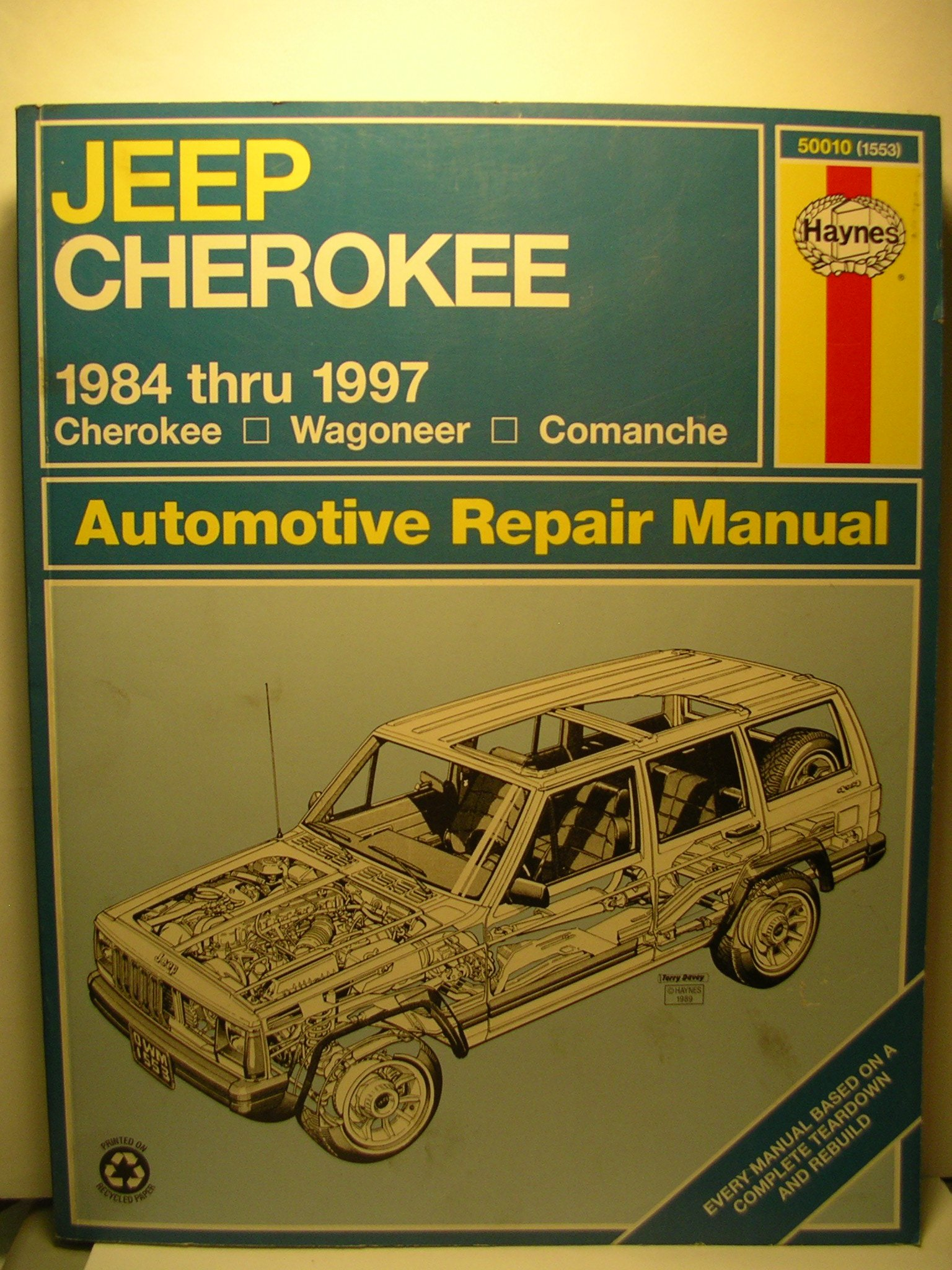 Jeep Cherokee, Wagoneer and Comanche (1984-1997) Automotive Repair Manual  (Haynes Automotive Repair Manuals): Bob Henderson, J. H. Haynes:  9781563923180: ...