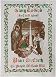 Glory to God 3 White with 1 Pink Traditional Oplatki Christmas Wafers with Story Envelope