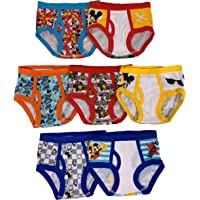 Disney Boys' Toddler Seven Pack Mickey Mouse Briefs, Multi