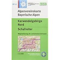 Karwendelgebirge Nord, Schafreiter: Wegmarkierung, Ski- und Schneeschuhrouten (Alpenvereinskarten)