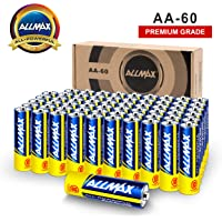60-Pack Allmax AA Alkaline Batteries