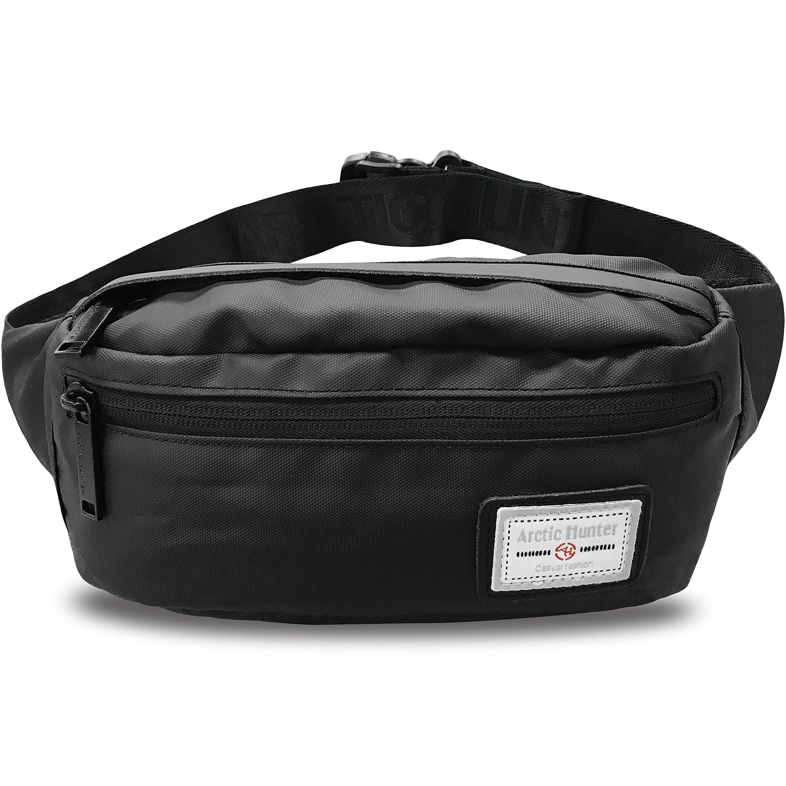 AOHAN Fanny Pack Waist Pack Bag Men Women Waterproof Lightweight Hip Bum Bag Workout Travel Running Hiking Cycling Black