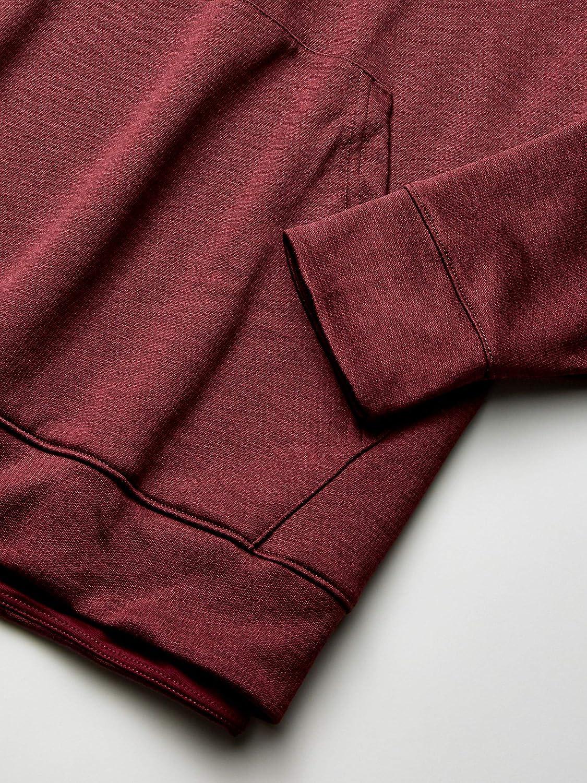 adidas - Athletics Team Issue Pullover, Maniche Lunghe Uomo Maroon Melange/Bianco