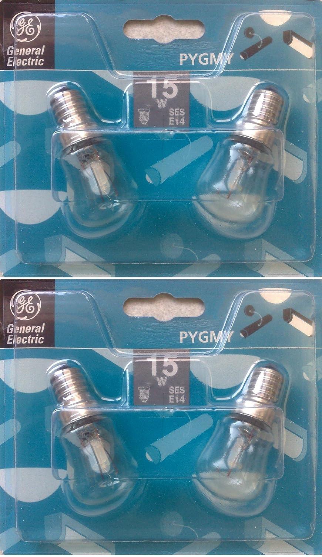 4 x GE (General Electric) Classic 15 W Pygmy Bombillas de luz ...