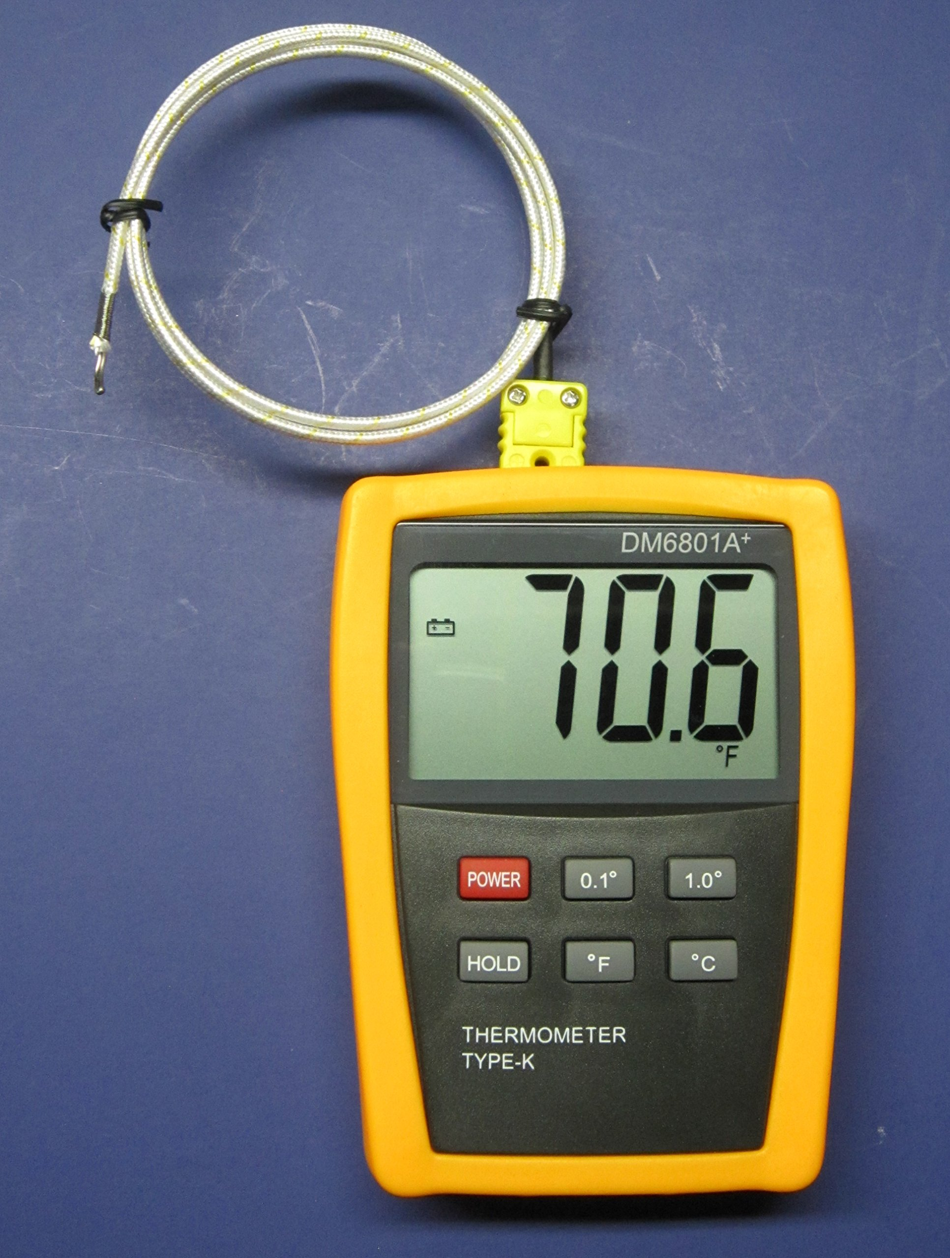 K-type Scientific Digital Thermometer DM6801 with high temperature thermocouple PK-1000