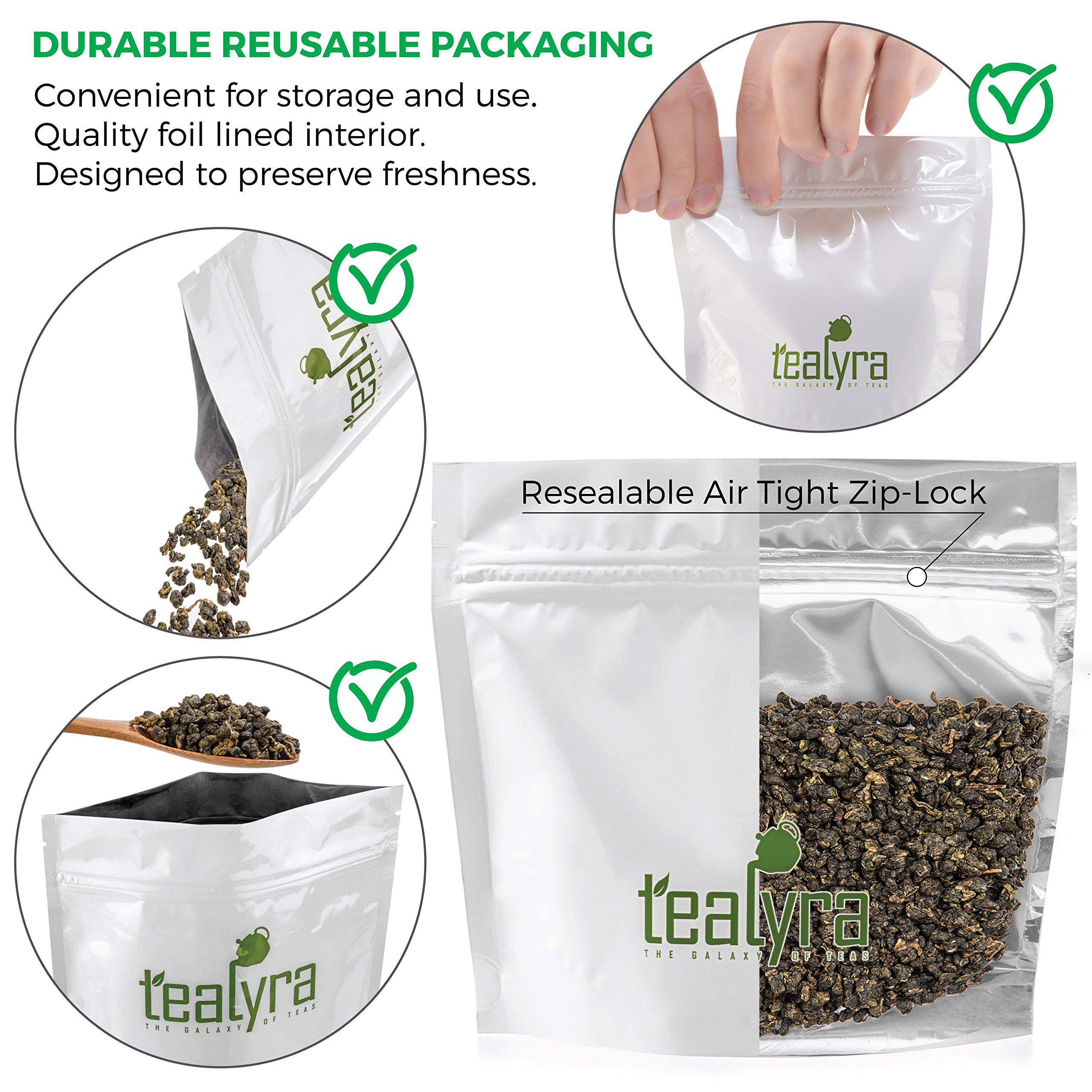 Tealyra - Milk Jin Xuan Oolong - High Mountain Taiwanese Loose Leaf Tea - Great Milky Cream Taste and Aroma - Organically Grown - Weight Loss Tea - 200g (7-ounce) by Tealyra (Image #2)