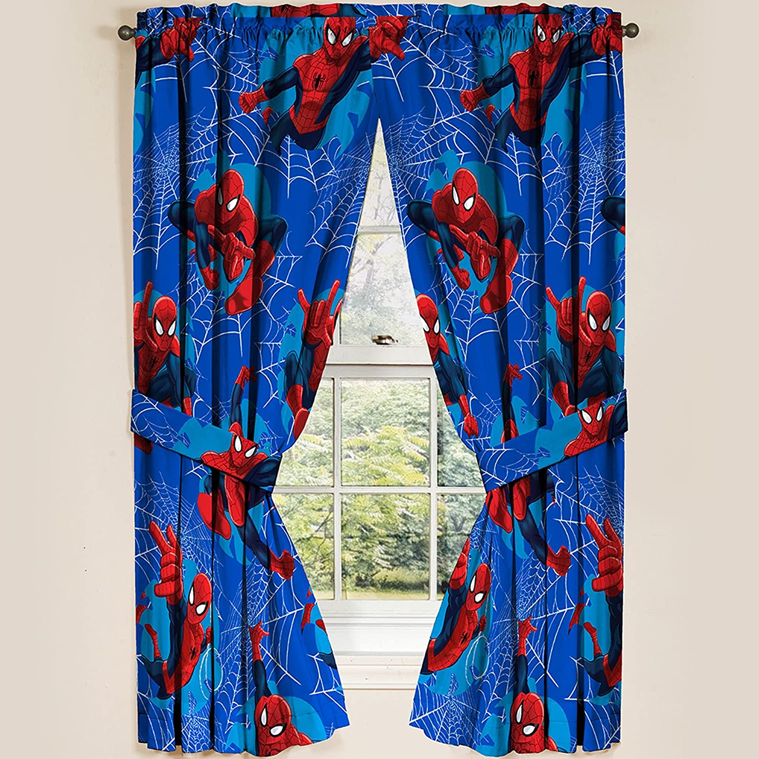 Marvel Ultimate Spiderman Spider-Man Panels Drapes Curtains, Set of 2