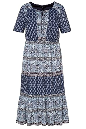 Ulla Popken PatchManches Femme Robe Maxi Effet Grandes Tailles 0PkX8nwO