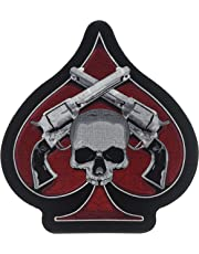 "Hot Leathers Skull & Pistols Patch (1"" Width x 11"" Height)"