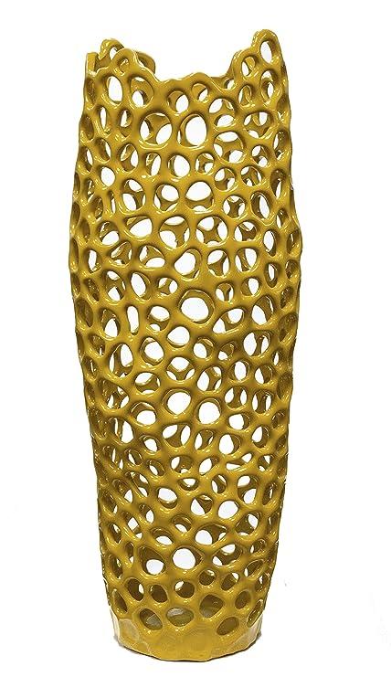 Amazon Sagebrook Home Vc10039 06 Hyde Pierced Vase Large