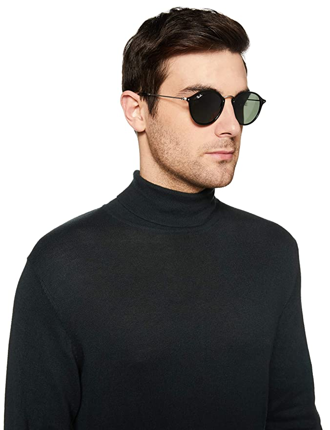 7f744334924 Amazon.com  Ray-Ban Men s 0RB2447 Round Sunglasses  Clothing