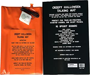 The Gags-10 Halloween Sounds Creepy Screaming Doormat Scary Spooky Funny Talking Door and Seat Mat-Hide This Doormat and TERRORIZE Your Friends-Family-Neighbors and Trick OR TREATERS!