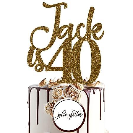 Decoración para tarta personalizada para fiesta de 40 ...
