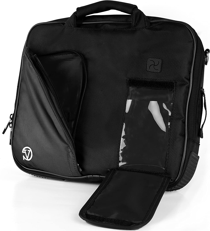 Dark Knight Black VanGoddy Pindar Messenger Shoulder Bag Case for HP 15.6 inch Laptops