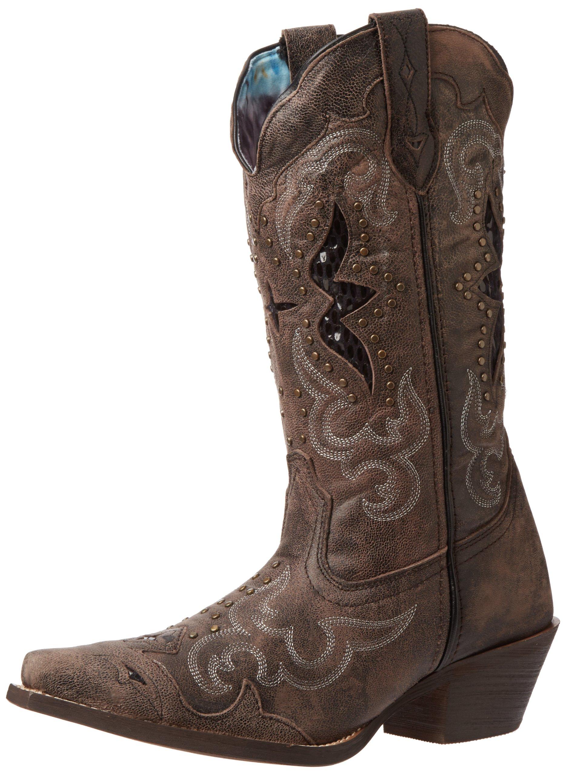 Laredo Women's Lucretia Western Boot,Black/Tan,9 M US
