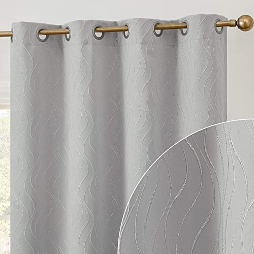 HLC.ME Camden 100 Complete Full Blackout Thermal Insulated Window Curtain Grommet Panel