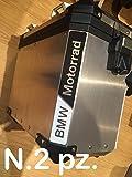Set de 2 pegatinas adhesivas reflectantes luminosas «BMW Motorrad», negro y blanco