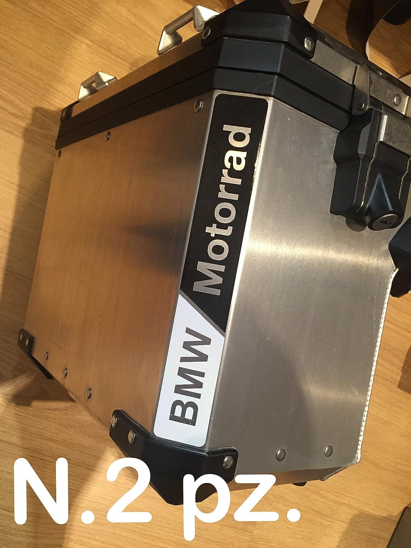 N.2 pz. RIFRANGENTI REFLECTIVE BMW MOTORRAD STICKERS ADESIVI NERO/BIANCO BLACK/WHITE THE1200STICKERS