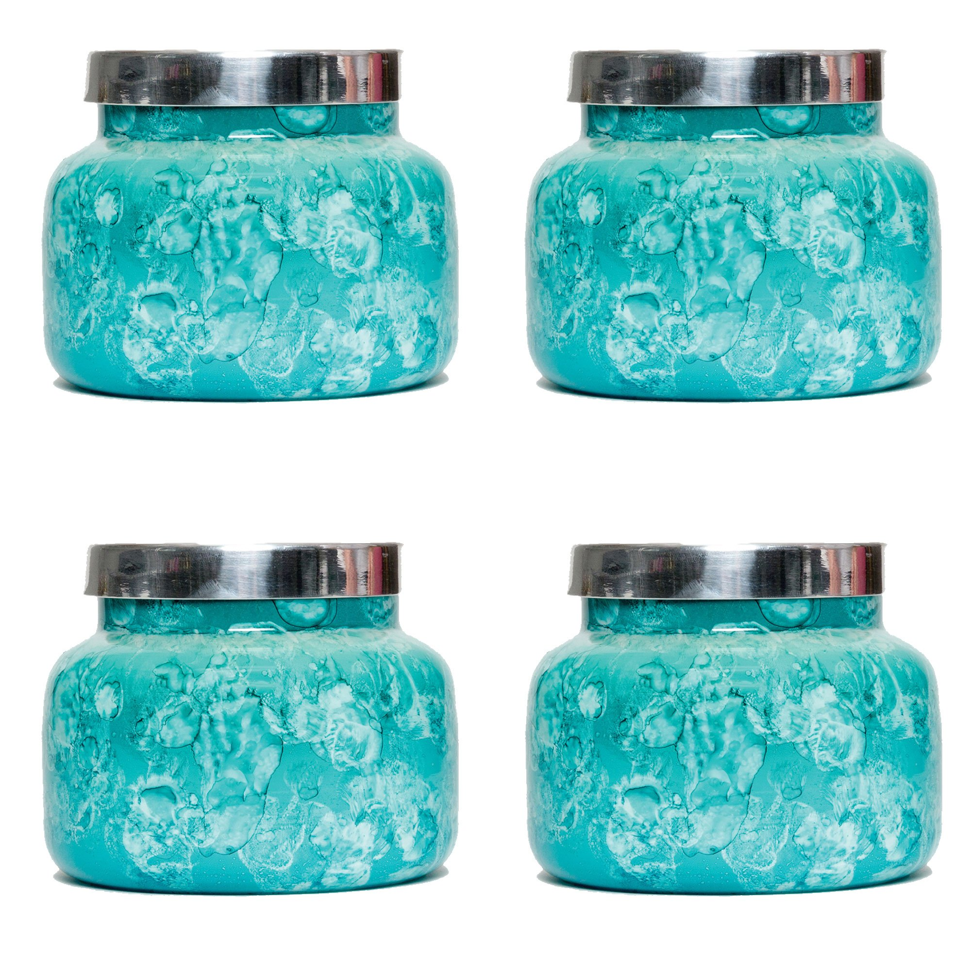Capri Blue 19 oz Mint Watercolor Jar Volcano (4 pack)