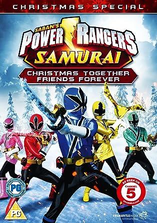 power rangers samurai christmas together friends f