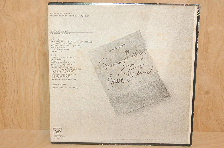 Barbra Streisand - Barbra Streisand/A Christmas Album LP 1967 ...