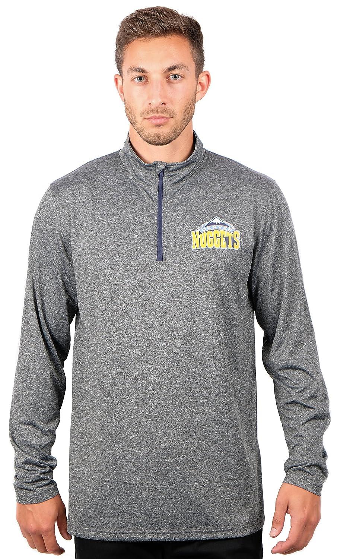 UNK NBA メンズ プルオーバーシャツ クウォータージップ 長袖Tシャツ チームロゴ グレー X-Large グレイ   B076LRJR71