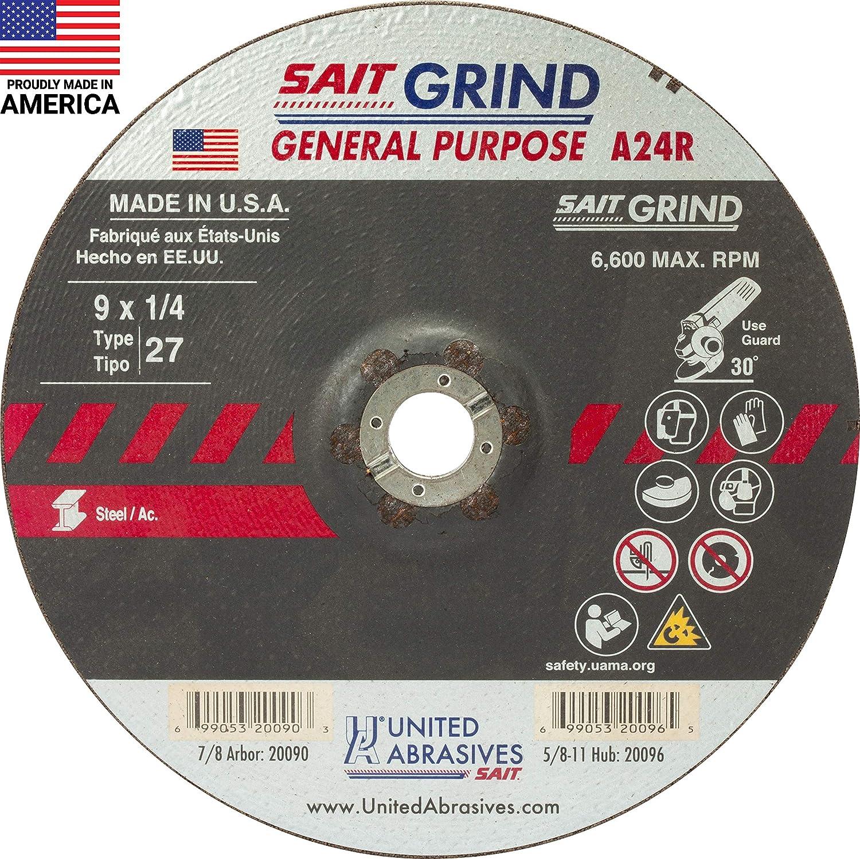 6 x 1//4 x 7//8 Makita A-95978-25 36 Grit INOX Grinding Wheel Pack of 25