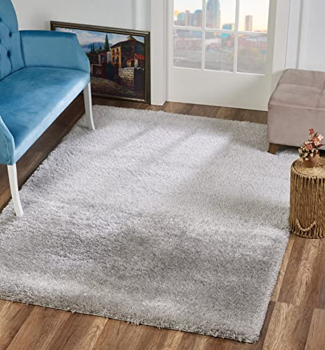 Amazon Com Dillman Rugs Area Rugs Light Grey 4x6 Floor Rug Fluffy