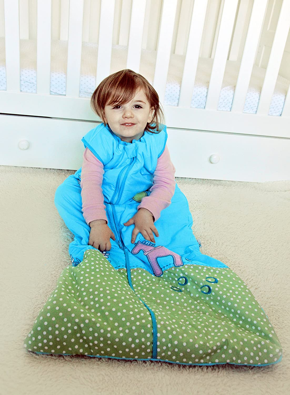 Saco de dormir para beb/é verano, sin forro, para ni/ña, 0,5 tog, para beb/és de 12 a 36 meses, 110 cm Slumbersac