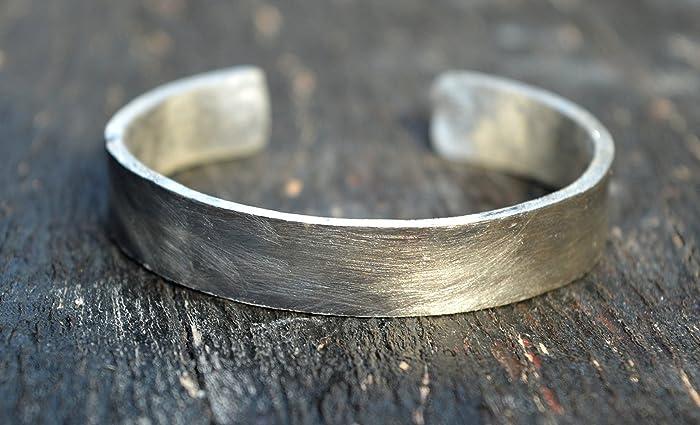 Amazon Com Thick Sterling Silver Bracelet Exclusive Handmade Unique