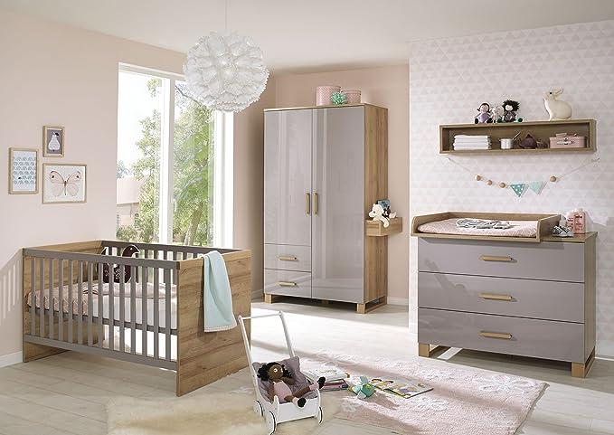 Babyzimmer Riviera Eiche/ Lilac Grey Hochglanz: Amazon.de: Küche ...