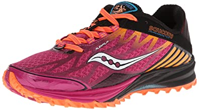 010cd3736c28 Saucony Women s Peregrine 4-W Black Purple Orange 5 ...