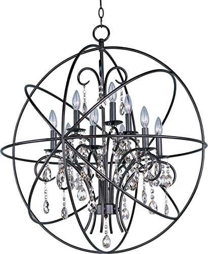 Maxim Lighting 25145OI Orbit – Nine Light Pendant, Oil Rubbed Bronze Finish