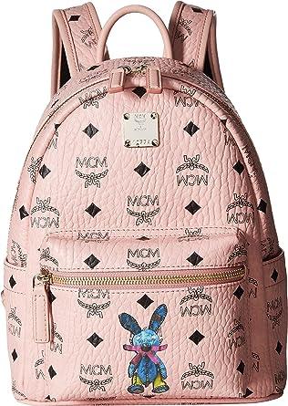 MCM Women s Rabbit Backpack Mini Soft Pink One Size ca598618fb781