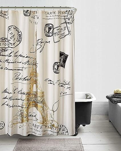 Amazoncom Casa Paris Gold Shower Curtain 72x72 Home Kitchen