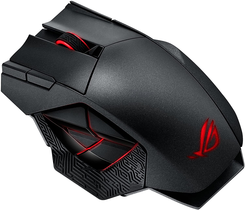 Asus Rog Spatha Gaming Maus Schwarz Rot Computer Zubehör