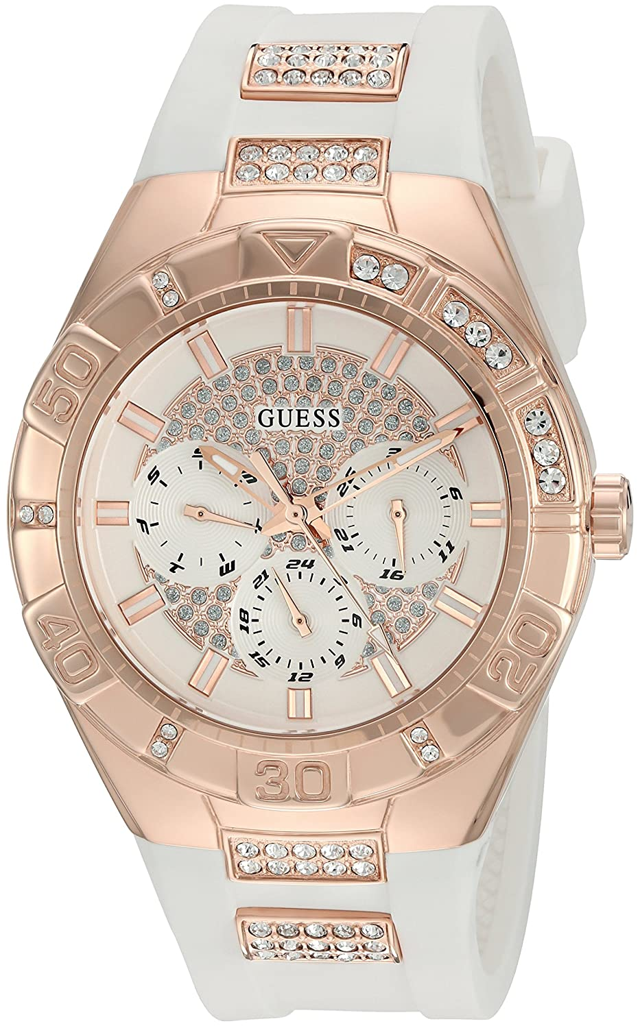 Guess Womens U0653L4 Sporty Rose Gold-Tone Stainless Steel ...